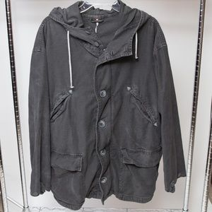 Free People Utility Jacket Charcoal Grey Size LG